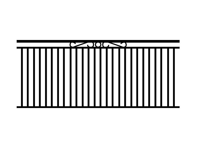 ring-and-scroll-fence